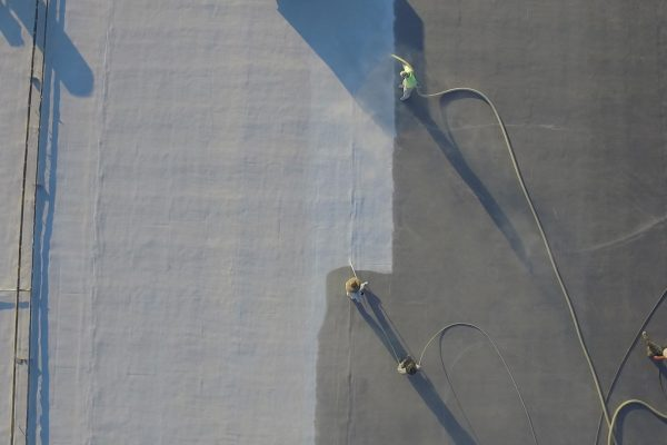 Spraying a Silicone Roof